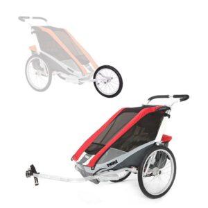 Thule Chariot Cougar 1 cykelvagn + cykel- & joggingkit, röd