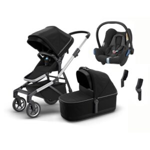 Thule Sleek duovagn + Maxi-Cosi Cabriofix babyskydd 0-13 kg & adapter