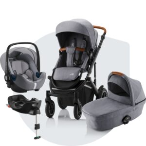 Britax Smile III Duovagn, Baby Safe I-Size² babyskydd och Baby-Safe Flex bas