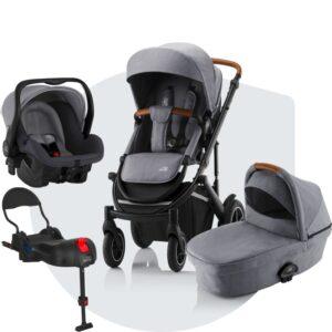 Britax Smile III Duovagn , Primo Babyskydd och bilstolsbas
