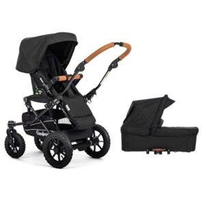 Emmaljunga Super Viking sittvagn + liggdel, outdoor black