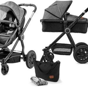 Kinderkraft Multipurpose 2-i-1 Veo Duovagn, Black/Grey