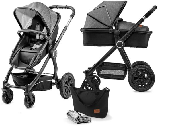 Kinderkraft Multipurpose 2-i-1 Veo Duovagn, Black/Grey