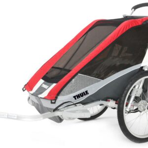 Thule Chariot Cougar 2 Red 2014 inkl. Cykelkit