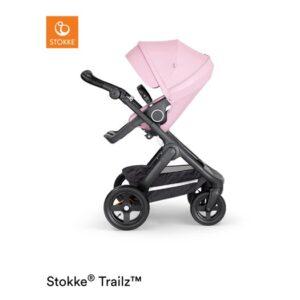 Stokke Trailz sittvagn Terrain, lotus pink/svart läder
