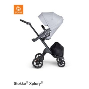 Stokke Xplory V6 sittvagn, grey melange/svart läder