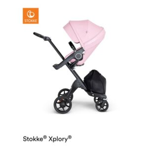 Stokke Xplory V6 sittvagn, lotus pink/svart läder