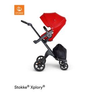 Stokke Xplory V6 sittvagn, red/svart läder
