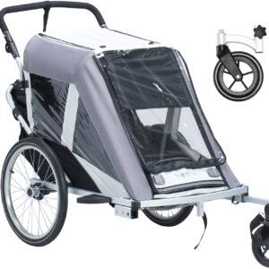 North 13.5 Roadster+ Med Stroller Wheel Och Regnskydd, Grå