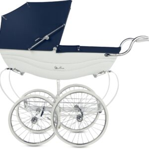 Silver Cross Balmoral Barnvagn, White and Navy