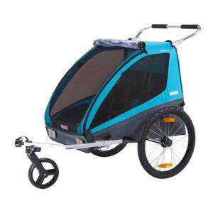 Thule Coaster XT cykelvagn inkl promenad- & cykelkit, blue