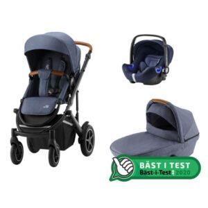 Britax Smile 3 duovagn + babysafe2 i-size babyskydd