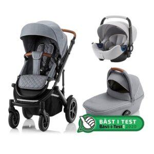 Britax Smile 3 duovagn + babysafe2 i-size babyskydd, ldt edt nordic grey