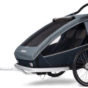 Croozer Kid Vaaya 2 Cykelvagn, Graphite/Blå