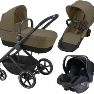 Cybex Balios S 2-in-1 Duovagn inkl. Axkid Modukid Babyskydd, Classic Beige