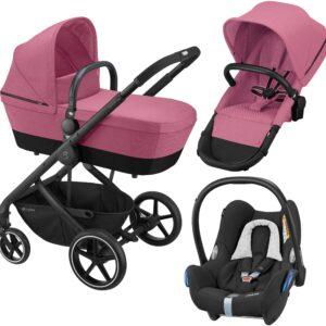 Cybex Balios S 2-in-1 Duovagn inkl. Maxi-Cosi CabrioFix Babyskydd, Magnolia Pink