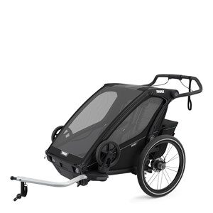 Thule Thule Chariot Sport2 Double Multisport and Bikestroller Midnight Black one size
