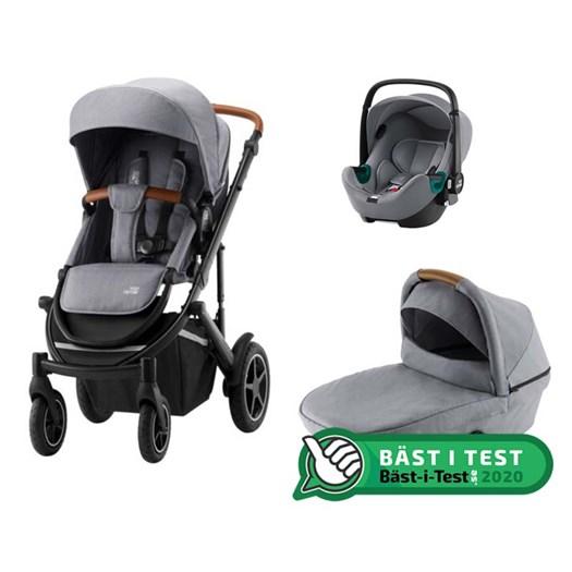 Britax Smile 3 duovagn + Baby-Safe iSense babyskydd, valfri färg