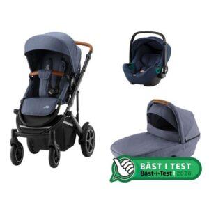 Britax Smile 3 duovagn + Baby-Safe3 i-Size babyskydd, valfri färg