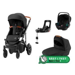 Britax Smile 3 duovagn + Baby-Safe3 i-size babyskydd + flexbas, valfri färg