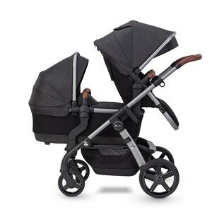 Silver Cross Wave Sittdel Och Liggdel Charcoal Wave Seat Unit/Carrycot Charcoal