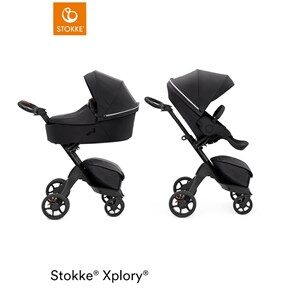 Stokke® Xplory® X Stroller and Carrycot Rich Black Xplory® X Stroller and Carrycot Rich Black